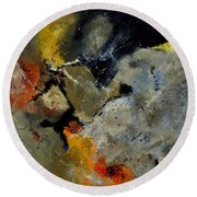 Abstract 181121 Round Beach Towel