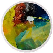 Abstract 1811804 Round Beach Towel