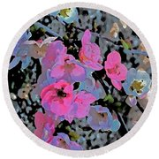 Abstract 183 Round Beach Towel