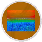 Abstract 204 Round Beach Towel