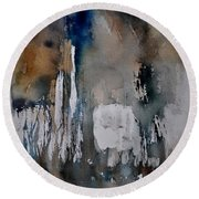 Abstract 213030 Round Beach Towel