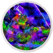 Abstract 239 Round Beach Towel