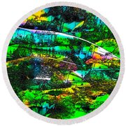 Abstract 241 Round Beach Towel