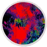 Abstract 248 Round Beach Towel