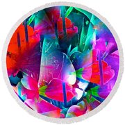 Abstract 250 Round Beach Towel
