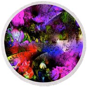 Abstract 252 Round Beach Towel