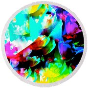 Abstract 253 Round Beach Towel