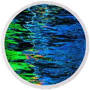 Abstract 262 Round Beach Towel