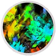 Abstract 264 Round Beach Towel