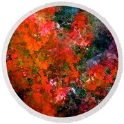 Abstract 269 Round Beach Towel