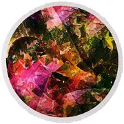 Abstract 270 Round Beach Towel