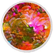 Abstract 271 Round Beach Towel