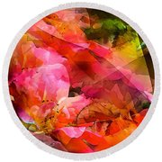 Abstract 273 Round Beach Towel