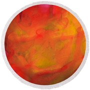 Abstract 279 Round Beach Towel