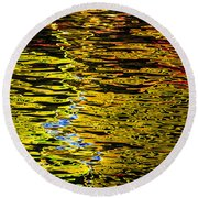 Abstract 301 Round Beach Towel