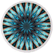 Abstract 37 Round Beach Towel