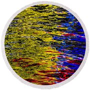Abstract 398 Round Beach Towel