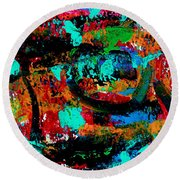 Abstract 5 Round Beach Towel