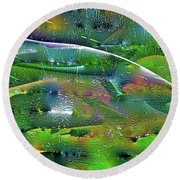 Abstract 52 Round Beach Towel