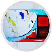 Abstract  6 Round Beach Towel by Snake Jagger