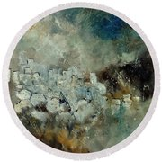 Abstract 66210101 Round Beach Towel
