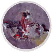 Abstract 6621301 Round Beach Towel