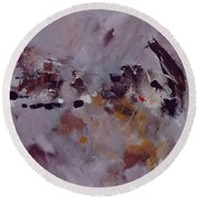 Abstract 6621303 Round Beach Towel