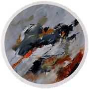 Abstract 66217020 Round Beach Towel