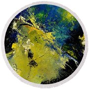 Abstract 66217090 Round Beach Towel