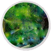 Abstract 67 Round Beach Towel