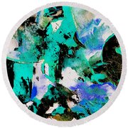 Abstract 690506 Round Beach Towel