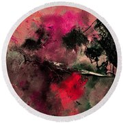 Abstract 69210102 Round Beach Towel