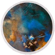 Abstract 69210151 Round Beach Towel