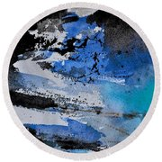 Abstract 69211050 Round Beach Towel