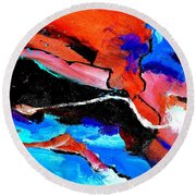 Abstract 69212022 Round Beach Towel