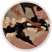 Abstract 69548 Round Beach Towel