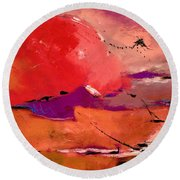 Abstract 695623 Round Beach Towel