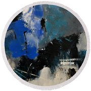 Abstract 699031 Round Beach Towel