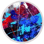 Abstract 71001 Round Beach Towel