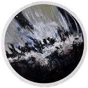 Abstract 7721202 Round Beach Towel