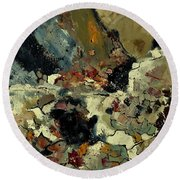 Abstract 7721901 Round Beach Towel