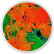 Abstract 83 Round Beach Towel