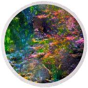 Abstract 86 Round Beach Towel