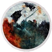 Abstract 881101 Round Beach Towel