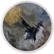 Abstract 88111102 Round Beach Towel