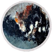 Abstract 8811114 Round Beach Towel