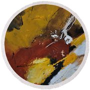 Abstract 88119011 Round Beach Towel