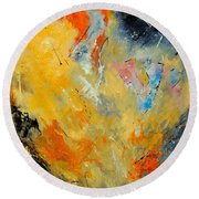 Abstract 8821012 Round Beach Towel