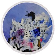 Abstract 8821501 Round Beach Towel