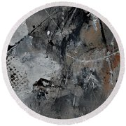 Abstract 961111 Round Beach Towel